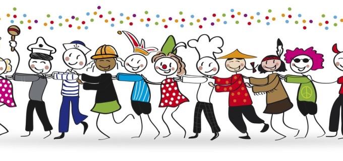 Polonäse auf Karnevalsparty